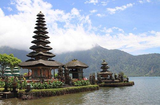 Pagoda De, Templo, Lago, Viajes
