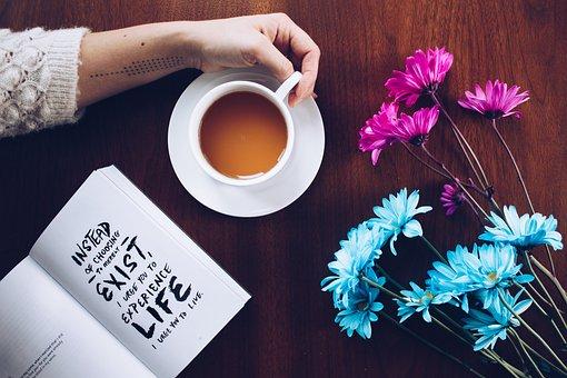 ビジネス, 紙, コーヒー, テーブル, カップ, デスクトップ, 茶, 読書