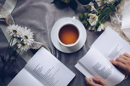 Tea Time, Poetry, Coffee, Reading