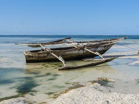 釣り船, Dau, ブーム, 帆走船, 伝統, ボート, ザンジバル