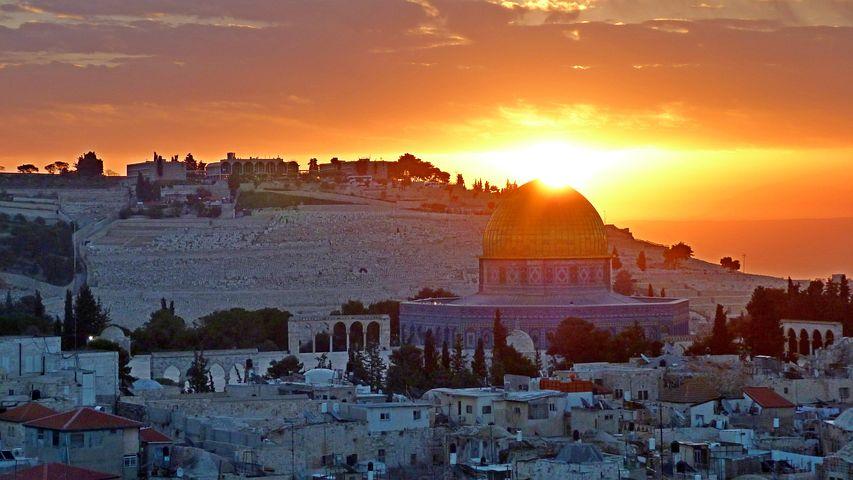 Panoramautsikt, Soloppgang, Jerusalem