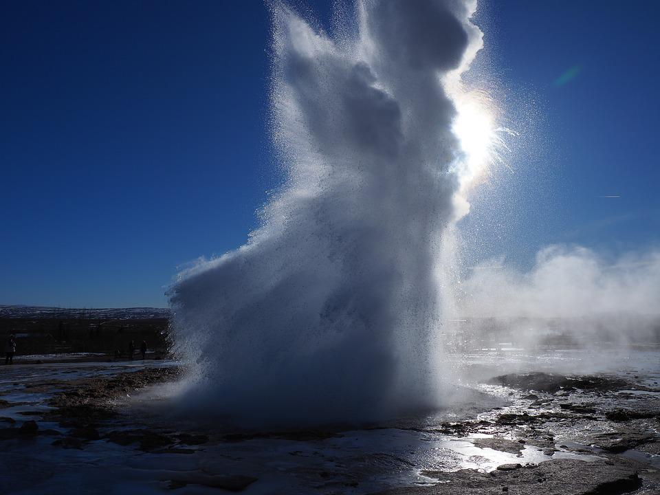 Geyser, Water Fountain, Explosion, Inject