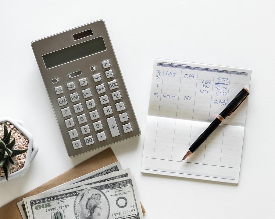電卓, 紙, ビジネス, 組成, 番号, アカウント, 会計, アメリカ, 銀行, 預金通帳, 札, チェック