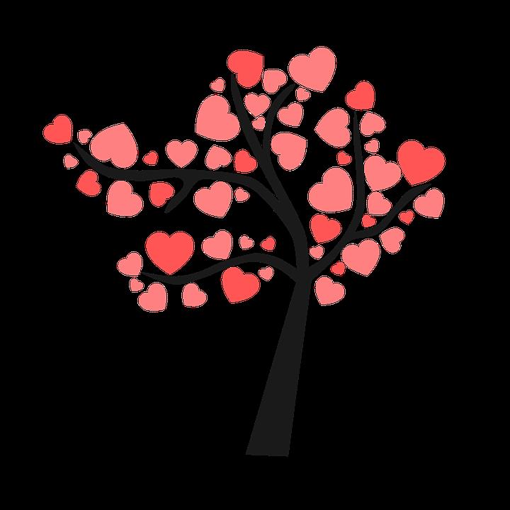 картинка дерева с сердечками придуманы