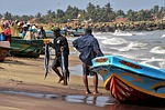 ryby, brzeg, ocean indyjski