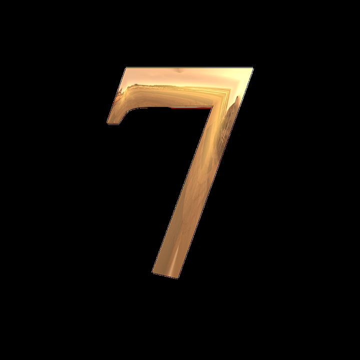 Siffror, Nummer, Antalet, Sju