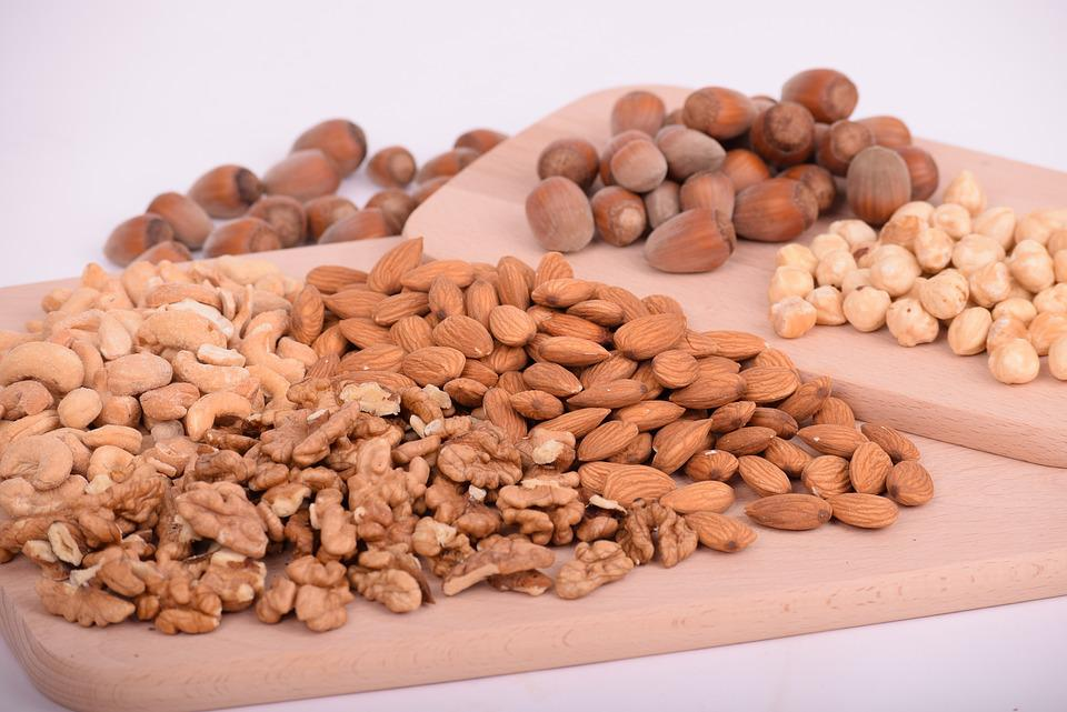 Nuts, Almonds, Seeds, Food, Batch, Nutrition, Diet
