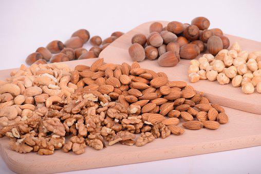 Nuts, Almonds, Seeds, Food, Batch
