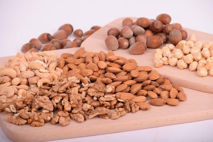 Nuts, Almonds, Seeds, Food, Batch