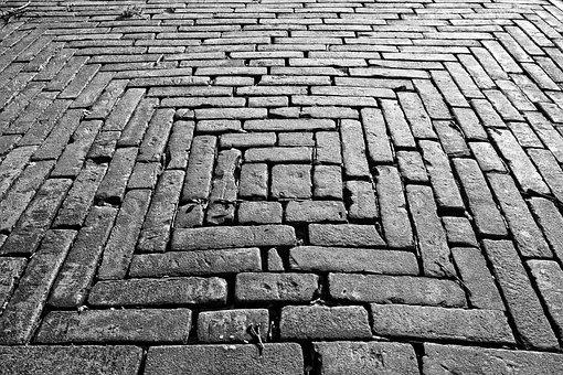 Brick, Paving, Sidewalk, Street, Surface