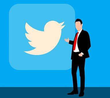 さえずる, 社会的なメディア, Twitter のロゴ, Twitter鳥