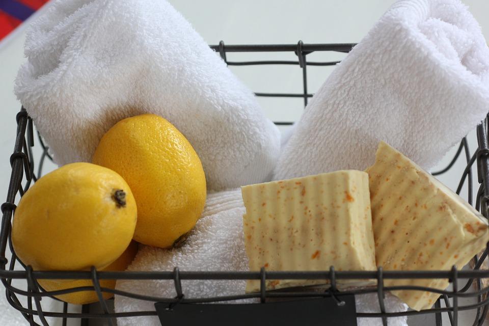 Lebensmittel, Zitronen-Seife, Kokos-Öl-Seife