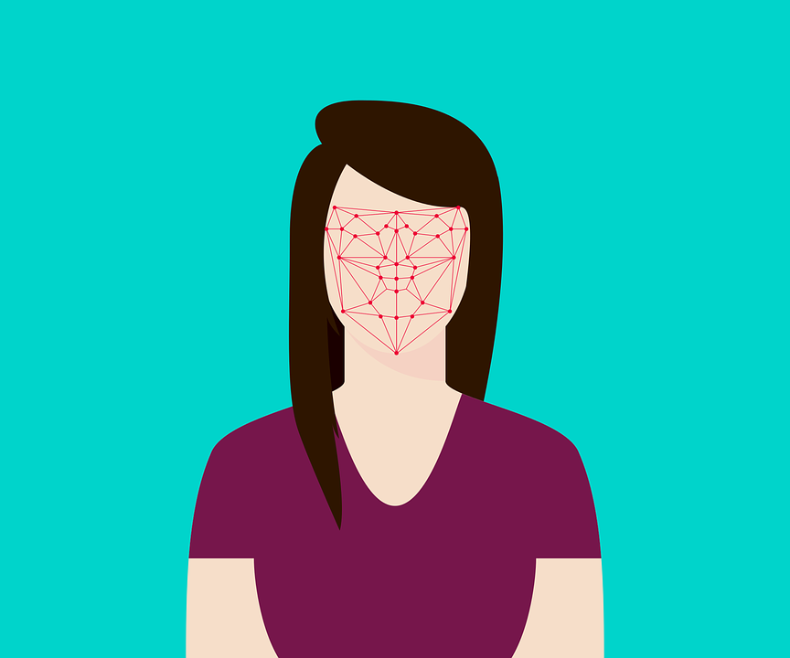 Flat, Recognition, Facial, Face, Woman, System