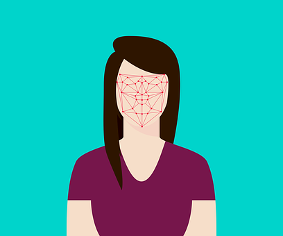 Flat, Recognition, Facial, Face, Woman