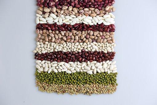 食品, 背景, 豆, 穀物, 緑豆, 小豆, 白豆