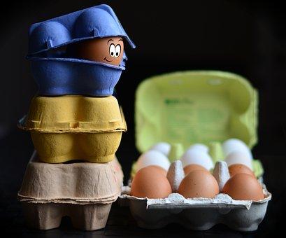 Eierkartons, Eier, Eierschachtel