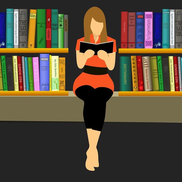 【コピーライティング術】3つのNOTとは?|1.NOT Read|あなたの文章を読まない|女性が本を読んでいるイラスト|アインの集客マーケティングブログ