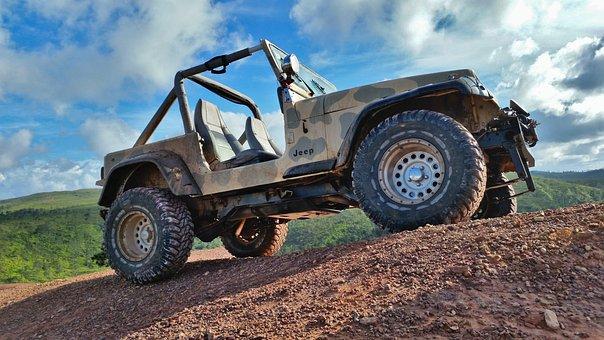 Jeep, Wrangler, Mountain, Mud, Play