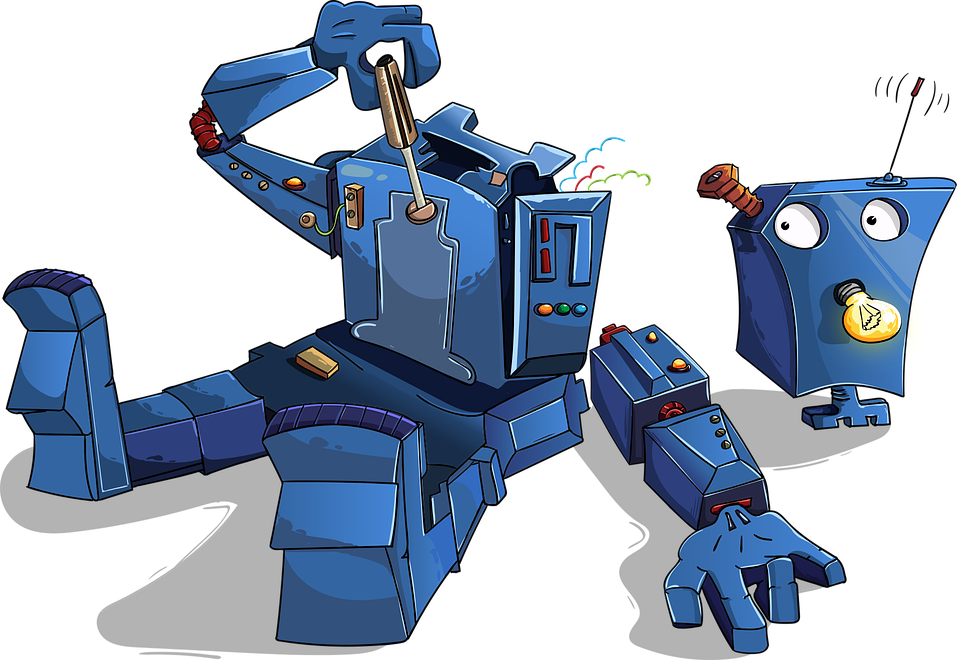 Robot démonté