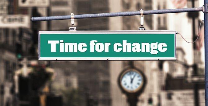 Change, New Beginning, Risk, Road, Clock