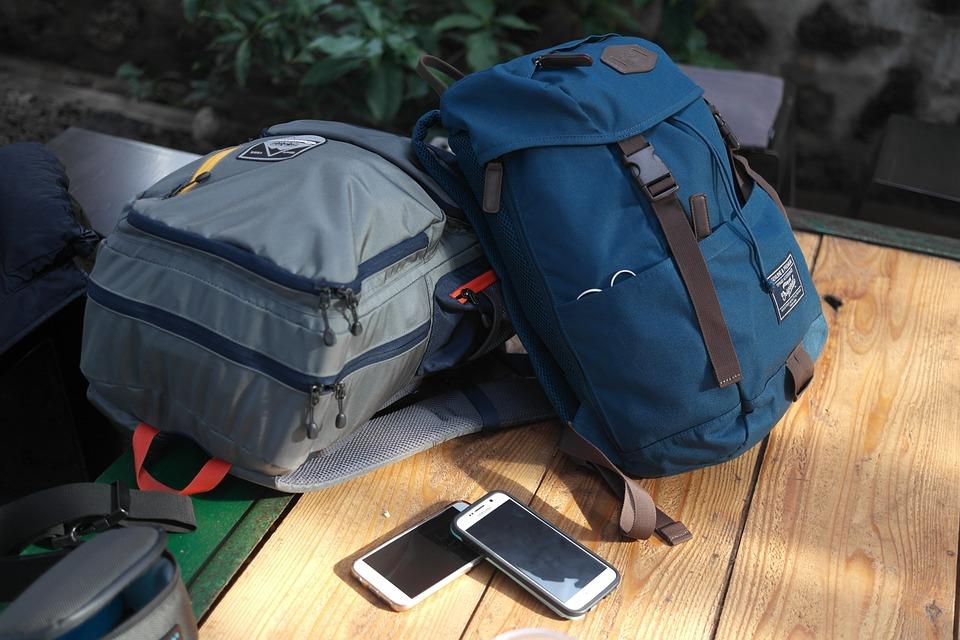 旅行バッグ, 旅行するには, 冒険, リュック, バックパック, 休憩, カップル
