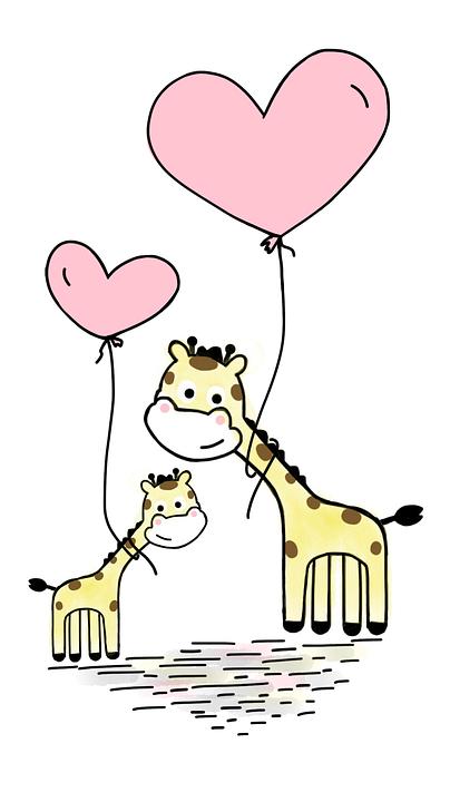 Giraffe Love Balloon 183 Free Image On Pixabay
