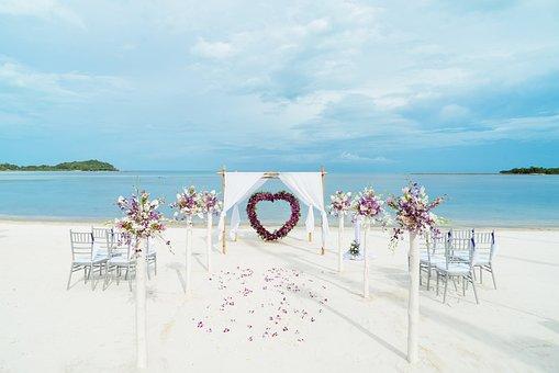 Beach, Wedding, Venue, Preparation, Sea