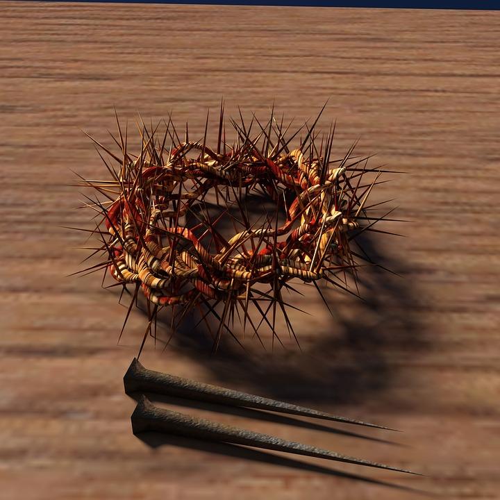 Νυχιών, Αγκάθινο Στεφάνι, Ξύλο, Ο Ιησούς