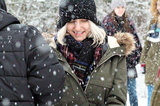 Winter, Snow, Cold, Human, Portrait
