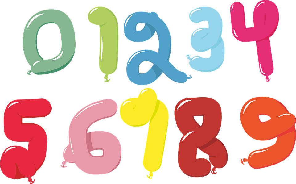 balloon numbers 1 free vector graphic on pixabay