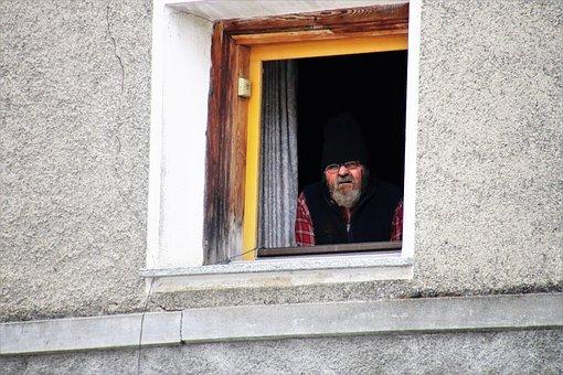 Window Sill, A Person, Window