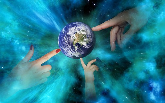 World, Earth, Space, Hands, Globe