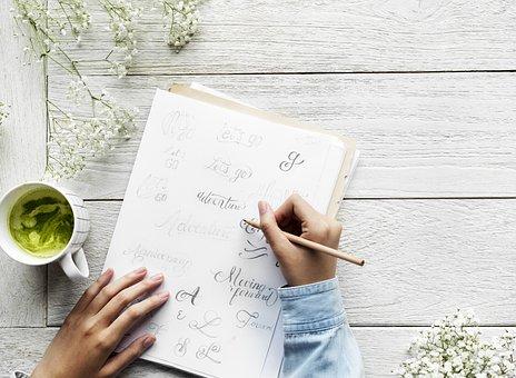 表, 空气, 咖啡厅, 书法, 清洁, 通讯, 每日, 设计器, 图, 女性