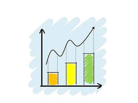 アナリティクス, グラフ, 描画, 色, ビジネス, データ, 情報, 金融