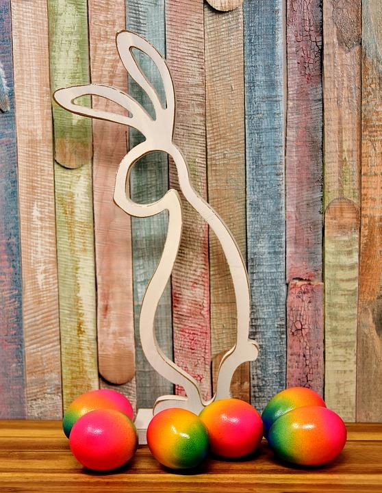 Easter Bunny, Legno, Pasqua, Uova Di Pasqua, Colorato