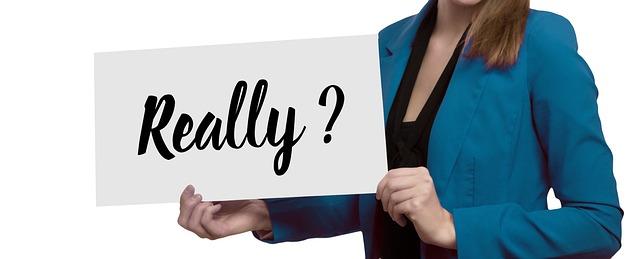 女性, プレゼンテーション, ポスター, 本当に, 質問, 必要, 必要な, 疑問符, 批判, 運命, 要件