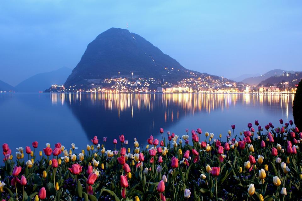 Lugano, Ticino, San Salvatore, Wody, Podróży, Natura
