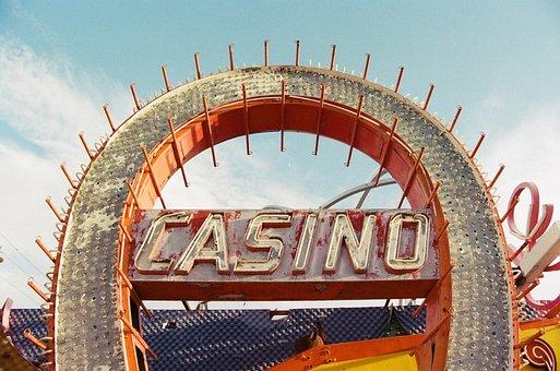Sky, Casino, Sign, Vegas, Old, Degraded