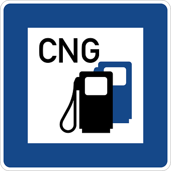 Road Sign, Cng, Gas And Service Station