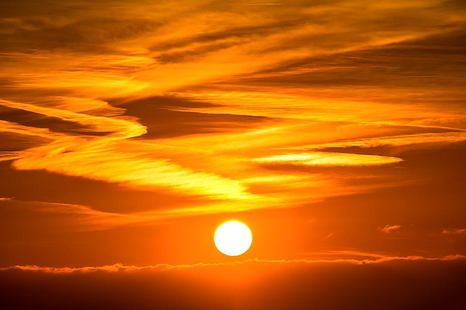 太陽, サンセット, 太陽が設定, Abendstimmung, 夕方の空, 雲, 空, 自然, 残光, 夕日