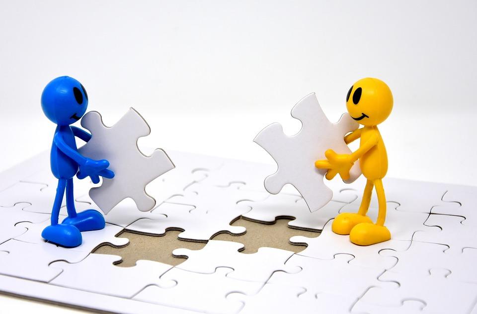 Trabalho Em Equipe, Juntos, Objetivos, Criar, Puzzle