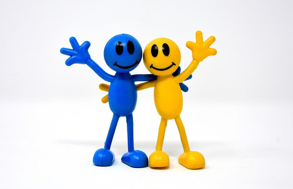 友情, 喜び, スマイリー, 幸せです, お友達と, 一緒, 一緒に, 運, フレンドリーです, 愛情