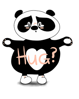 Panda, Hug, Sorry, Cute, Cute Bear, Sad