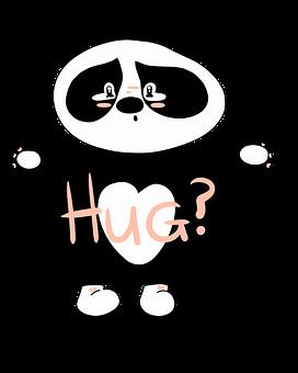 Panda, Hug, Sorry, Cute, Cute Bear, Sad