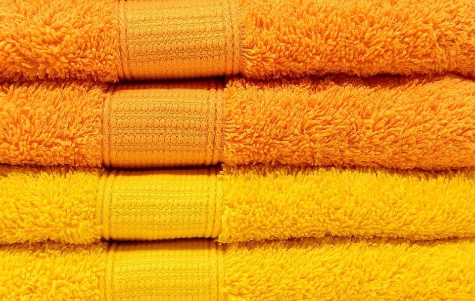 Toallas, Amarillo, Naranja, Colorido, Estructura, Color