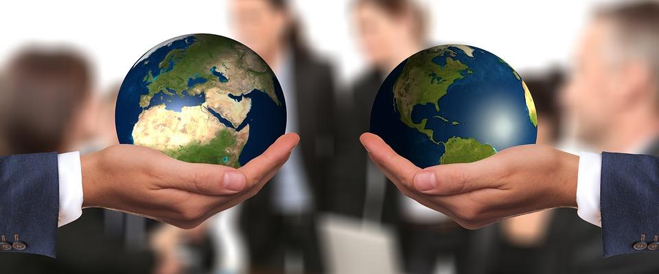 Négociation, Avant, Harmonie, Homme D'Affaires, Globe