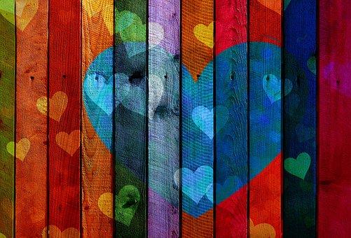 Herz, Liebe, Holz, Bretter, Astholz