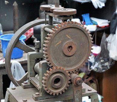 Motor, Zahnrad, Maschine, Industrie