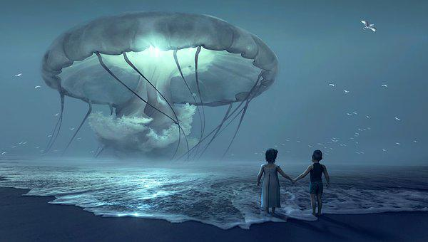 Fantasy, Beach, Children, Jellyfish, Past, Dream, Subconscious Mind