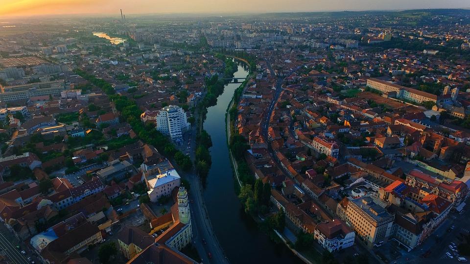Oradea, Bihor, Romania, City, Landscape, Aerial Shot